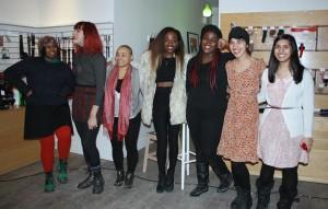 From left to right - Nova, Mikael, Lucila, Dee, Tarah, Elaine & Anoshia. Photo by Luna Allison