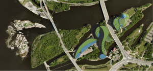 Conceptualization of Chaudière Falls development according to the Vision of Elder William Commanda (Douglas Cardinal)