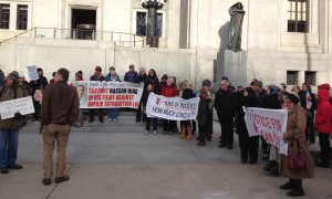 Rally in front of Supreme Court, Nov. 13th.   Photo: Justice for Hassan Diab
