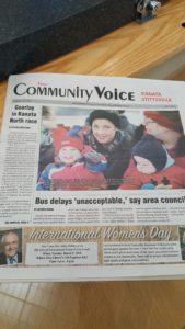 First Edition of The Kanata Stittsville Community Voice Credit: Patrick Uguccioni