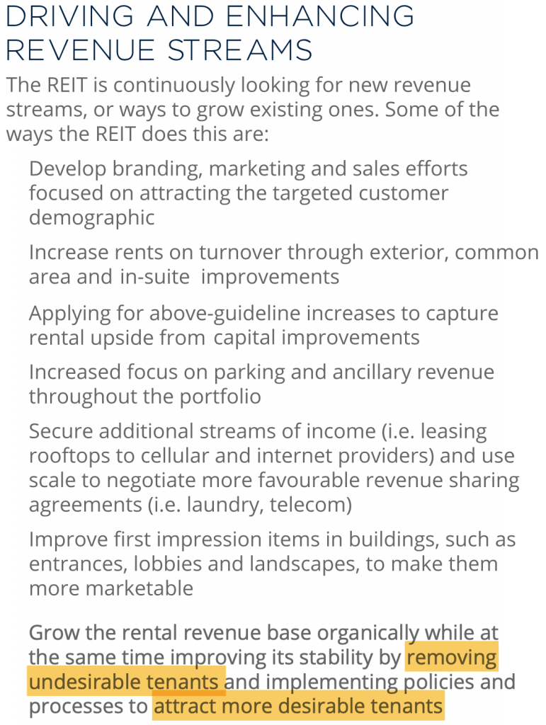 A screenshot from the InterRent REIT 2014 Annual Report