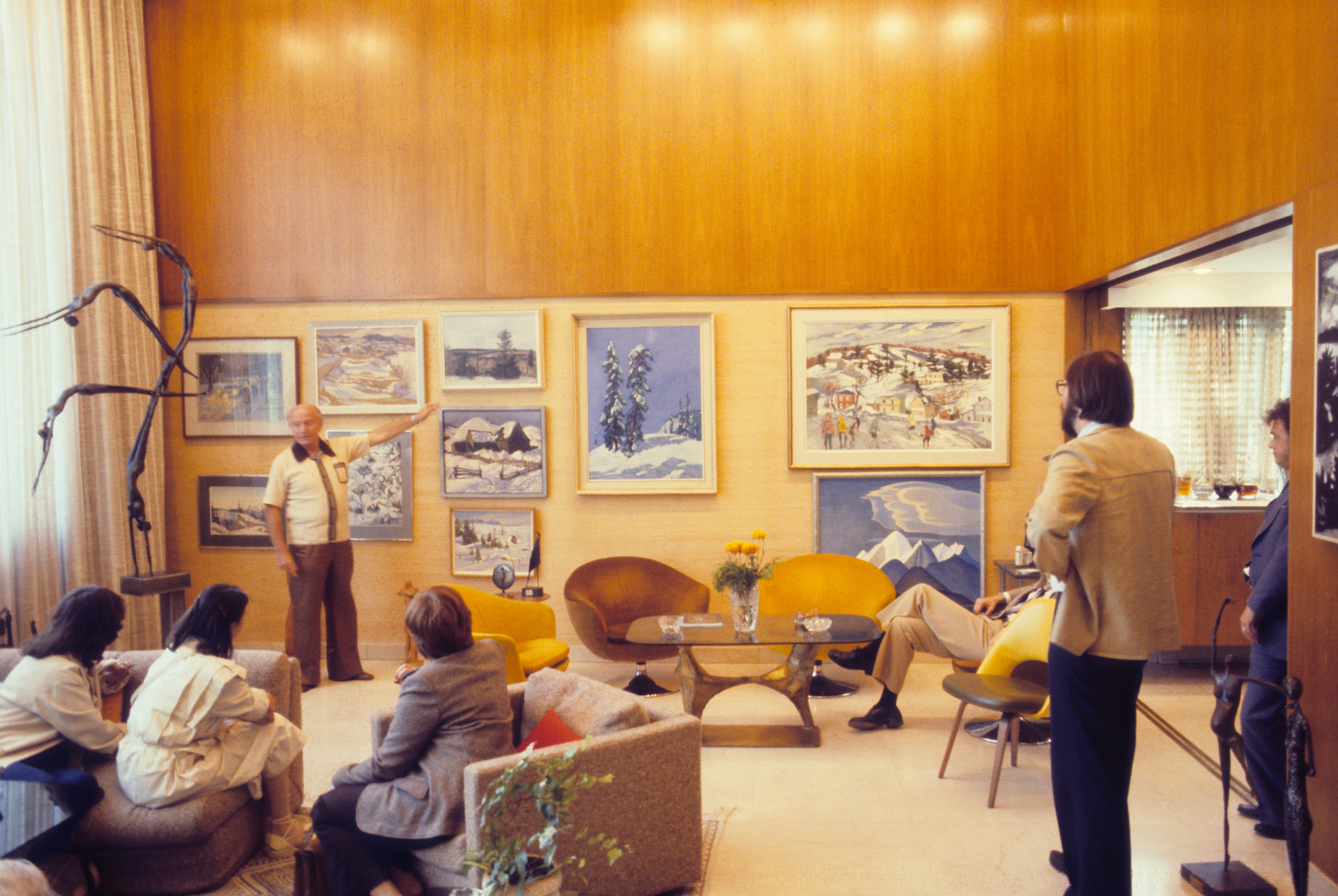 O. J. Firestone presents original Group of Sevens, displayed in his own home. (Photo courtesy of the OAG)